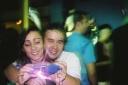 Kenji Baba, Lúcia Martins, - celular vodafone - DuBoiê Bar, São Caetano do Sul