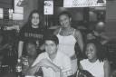 Eric Bormann (irmão S.andra), Aretha Cipriano Sant´Anna, Maitêe Cipriano Sant´Anna, Sidney de Castro, Andréia Daniela, - P&B - Praça Alimentação Shopping ABC Plaza, Santo André