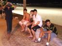 Aroldo (incomp), Nilson Fábio Jr. (Nilsinho), Anderson Leandro Pacheco, Mauro Felão Junior, Sidney de Castro, - orla - Praia Enseada, Guarujá