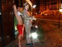 Aroldo (incomp), - estátua cobrador de bonde - Praia, Santos