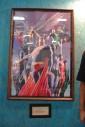 - poster Alex Ross Justice League - Parque Ibirapuera, São Paulo