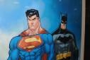 - poster Superman & Batman - Parque Ibirapuera, São Paulo