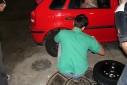 Max Mario Fuhlendorf, - trocando pneu - Posto Fundação, São Caetano do Sul