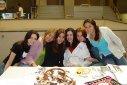 Adriana (incomp)(IMES Jr), Tatiana Balsano, Priscila Oliveira, Maíra Jordão, Fabíola Primilla, Mônica Ferreira Faria Silva, - sapo de pelúcia - IMES, São Caetano do Sul