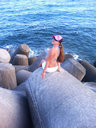 Marina Baba, - quebra-maré - Praia, Japão